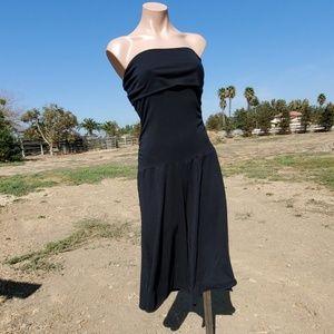 Guess Jeans S/P black strapless culottes jumpsuit